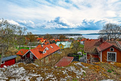 Town of Sigtuna with the lake Malar Stock Photos