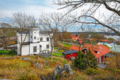 Town of Sigtuna with the lake Malar royalty free stock photos
