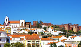 Town Silves in  Algarve, Portugal Stock Photography