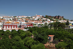 Town Silves with ancient castle Royalty Free Stock Photo