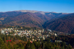 Town of Sinaia. Seen from above,Romania Royalty Free Stock Photos