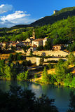 Town of Sisteron in Provence, France Royalty Free Stock Photography