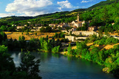 Town of Sisteron in Provence, France. Scenic view on town of Sisteron in Provence, France Royalty Free Stock Images