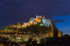 Town Sisteron in Provence France. Travel and architecture background Stock Images