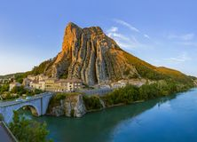 Town Sisteron in Provence France Royalty Free Stock Image