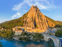 Town Sisteron in Provence France Royalty Free Stock Photography