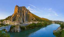 Town Sisteron in Provence France. Travel and architecture background Royalty Free Stock Images