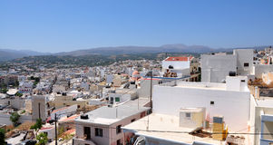 Town of Sitia, Greece. View of the town of Sitia, Crete, Greece Stock Image