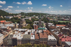 Town and sky at daytime. Stock Photography