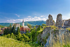 Town of Slunj church and fortress Royalty Free Stock Photography
