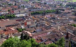 The town of Soave from Scaligero Castle Royalty Free Stock Images