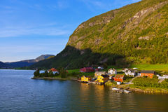 Town Sogndal and fjord - Norway Royalty Free Stock Photo