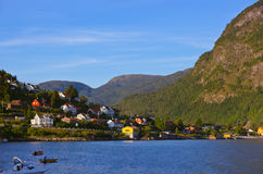 Town Sogndal and fjord - Norway Stock Image