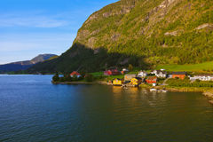 Town Sogndal and fjord - Norway Stock Photography