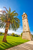 Town of Solin church tower Royalty Free Stock Photography