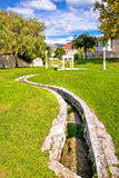 Town of Solin creek and park Royalty Free Stock Photography
