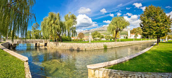 Town of Solin panoramic view Stock Images