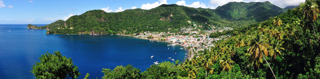 Town of Soufriere by the Bay Stock Photography