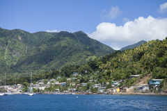 Town of Soufriere, St Lucia Stock Image