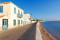 The town of Spetses island, Greece Royalty Free Stock Images