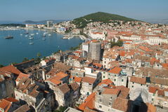 The town of Split, Croatia. Overview of the town of Split, Croatia Royalty Free Stock Image