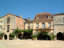 Town Square. Monpazier, France stock photos