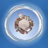 Town Square as a planet Royalty Free Stock Photo