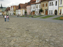 Town square in Bardejov Stock Images