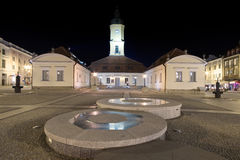 Town square in Bialystok Royalty Free Stock Images