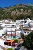 Town square and buildings, Mijas. Stock Images