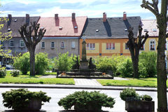 Town square Cerveny  Kostelec, Czech Republic Royalty Free Stock Images