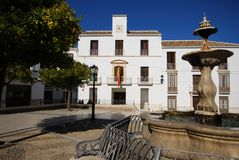 Town square, Estepa, Spain. Royalty Free Stock Photography