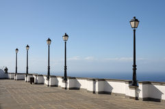 Town square in Firgas, Gran Canaria Stock Image