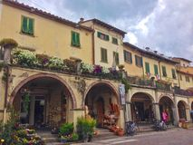Town square in Greve, Italy Royalty Free Stock Photo