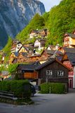 Town square in Hallstatt Royalty Free Stock Photo