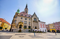 Town square in Jawor, Poland Stock Photos