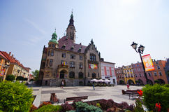 Town square in Jawor, Poland Royalty Free Stock Photos