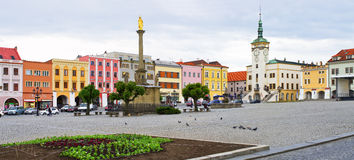 Town square in Kromeriz, Czech Republic Stock Image