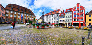 Town Square, Lindau Germany. A town square in Lindau, a town on the shores of the Boden See / Boden lake royalty free stock photo
