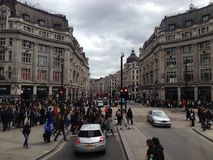 Town Square in London. Photo of Town Square in London, people crossing Stock Photography