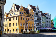 Town square of Meissen, Germany Royalty Free Stock Photography