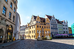 Town square of Meissen Royalty Free Stock Images