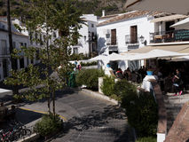 Town Square in Mijas one of the most beautiful 'white' villages of the Southern Spain area called Andalucia. Royalty Free Stock Images