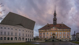 Town square in Narva, Estonia Royalty Free Stock Photography
