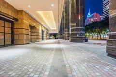 Town square at night in Hong Kong Stock Images