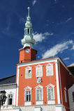 Town square with the old town hall, Svitavy Stock Photo