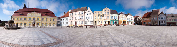 Town square panorama Stock Images