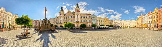 Town square in Pardubice, Czech Republic. Panorama of town square in Pardubice, Czech Republic Royalty Free Stock Photography
