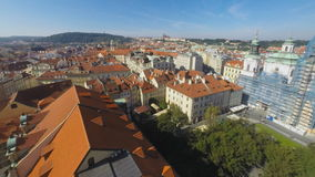 Town square in Prague stock footage
