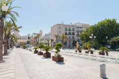 Town square of San Juan de Dios in Cadiz Royalty Free Stock Image